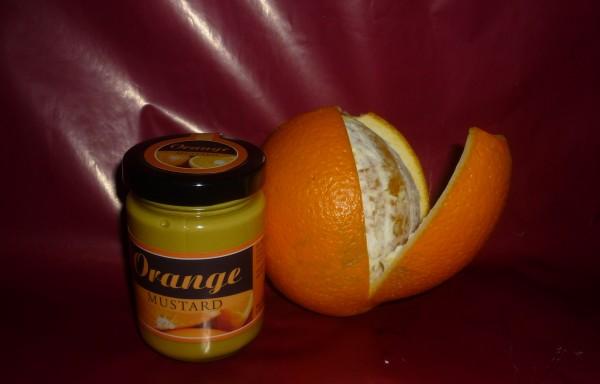 Orangen Apfelsinen Mustard 145ml Senf Tellicherrypfeffer