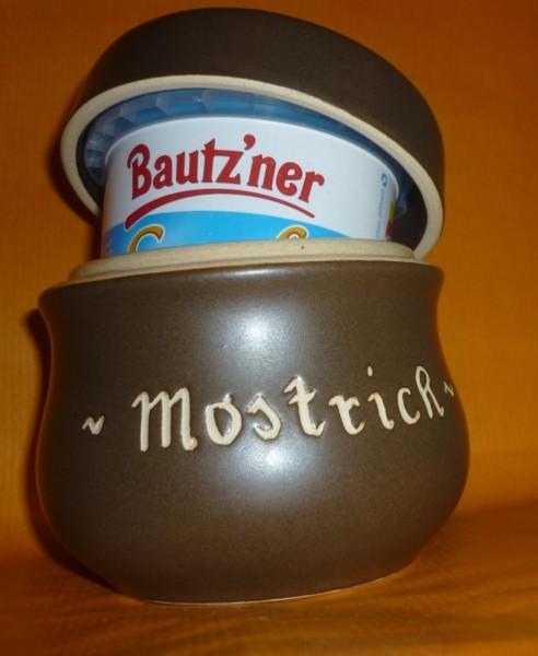 Senftopf - Keramik- Mostrich - incl. Bautzner Becher