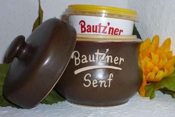 Senftopf - Bautzner Senf - für Bautzner Becher