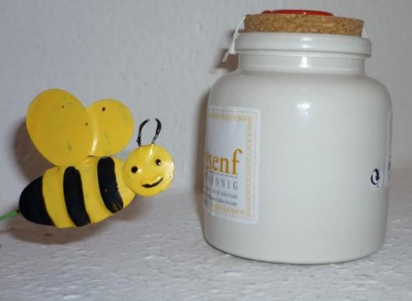 Bio Bienenhonig Senf 250ml im PorzellanTopf