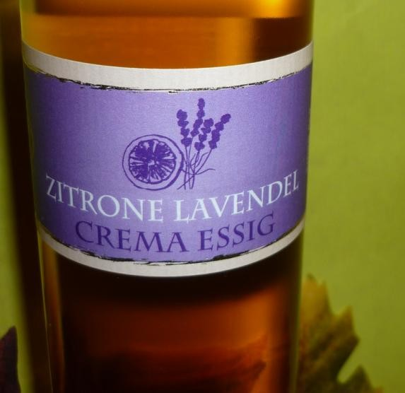 Essig - Zitrone Lavendel Crema 250 ml 3%Säure