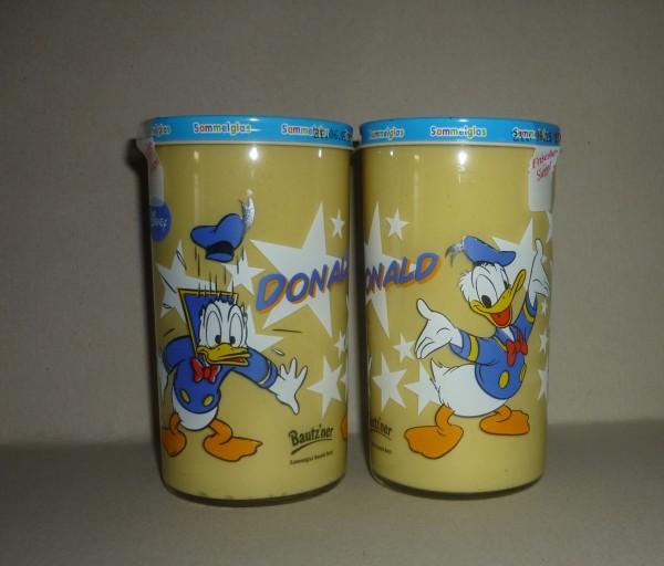Bautzner KinderSenf Donald Duck Sammelglas Walt Disney