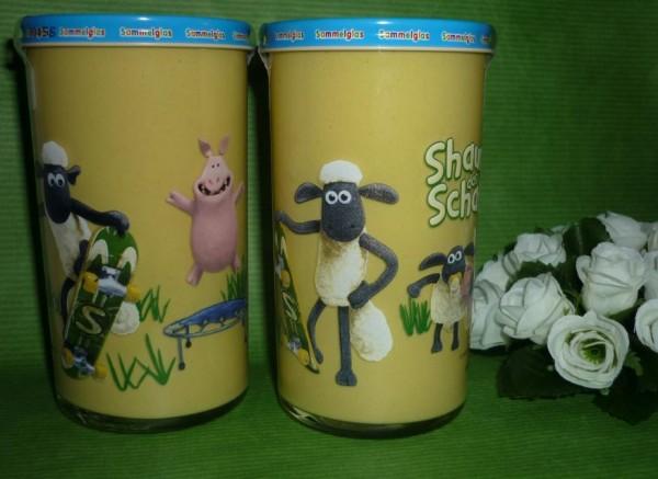 Bautzner Senfglas Shaun d. Schaf Sammelglas fiese Schweine