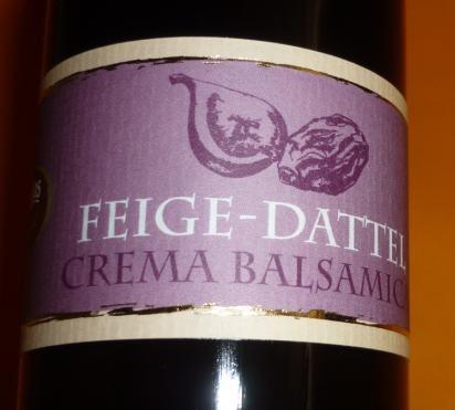 Essig - Feige Dattel Crema Balsamica vegan 250 ml 3%Säure
