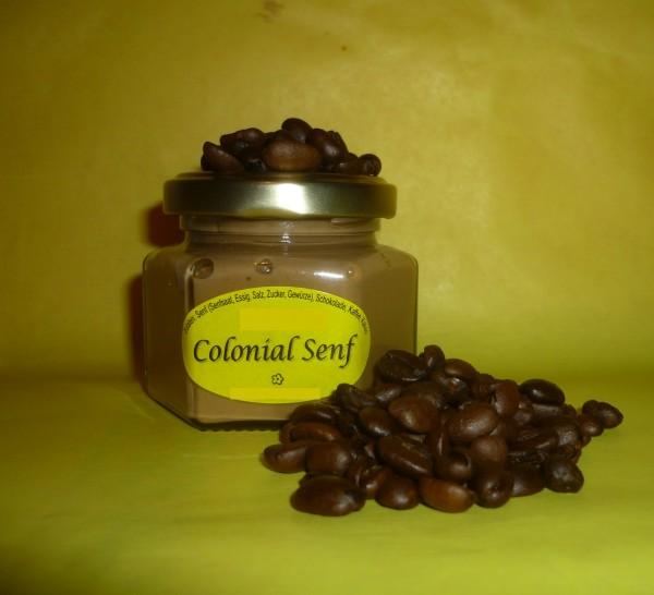 Colonial Senf 105ml ( extravagant herb mit Kaffee + Kakao )