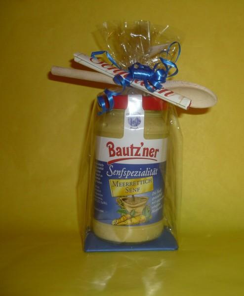 Bautzner Meerrettich Senf 200ml in Geschenkverpackung+Löffel