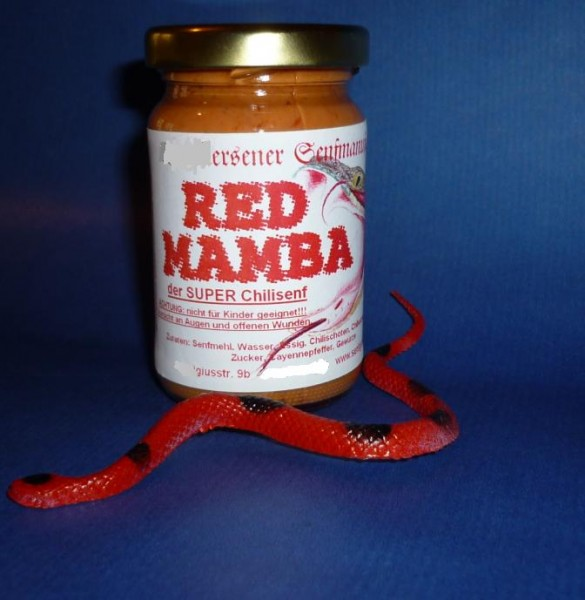 Chili Senf RED MAMBA -extrem scharf- 100ml