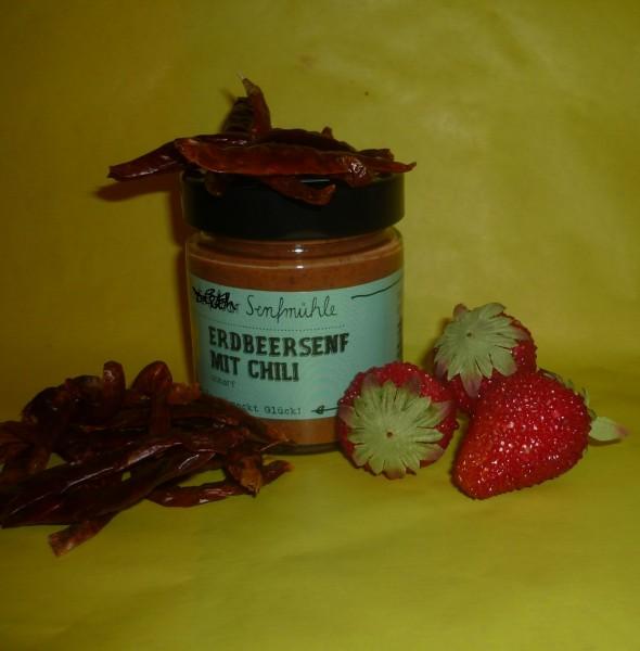 Erdbeer Chili Senf 190ml - pikant süß - vegan