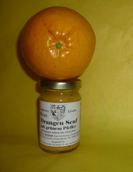 Orangen Senf mit Pfeffer 100ml