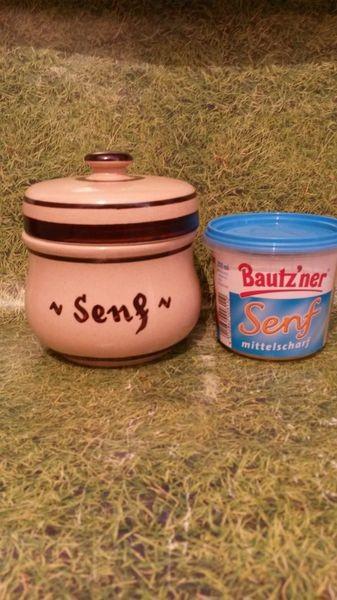 Senftopf - Senf - beige - incl. Bautzner Becher