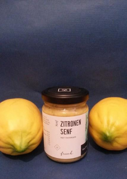 Zitronen Mustard Senf mit einem Hauch Thymian 145ml