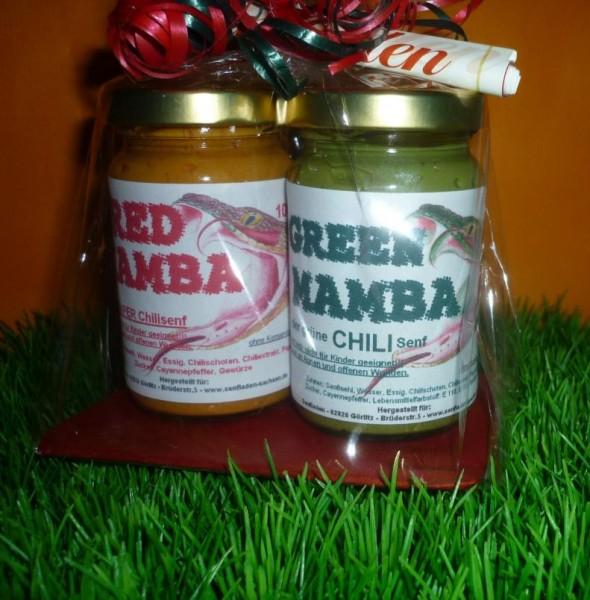 scharfes Duett 2 x 100 ml - Chili Senf - heißes Geschenk