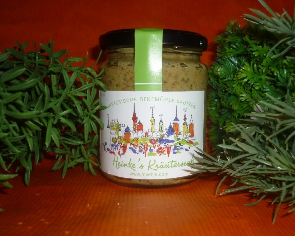 HammerMühle Bautzen Kräuter Senf - halbgrob 100 ml grüne Soß