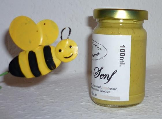OMAs Honig Senf 100ml mit naturreinem Imkerhonig