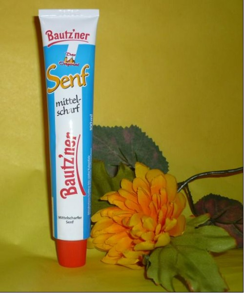 Bautzner Senf Tube mittelscharf 100 ml praktisch + vegan