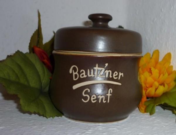 Senftopf - Keramik - Bautzner Senf - incl. Bautzner Becher