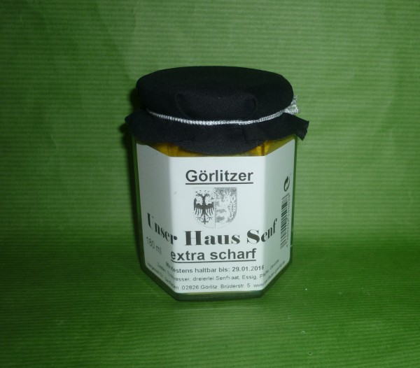 Görlitzer HausSenf fein extra scharf 180ml