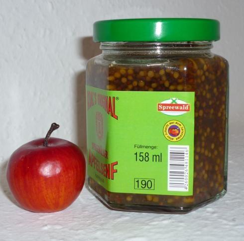 Apfel Spreewald Senf Ganzkorn 170ml