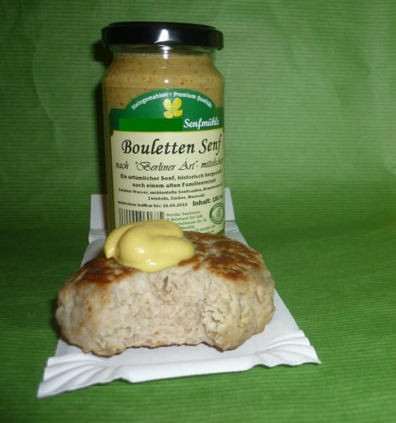 Bouletten Senf 190ml Berliner Art (altes Familienrezept) vegan