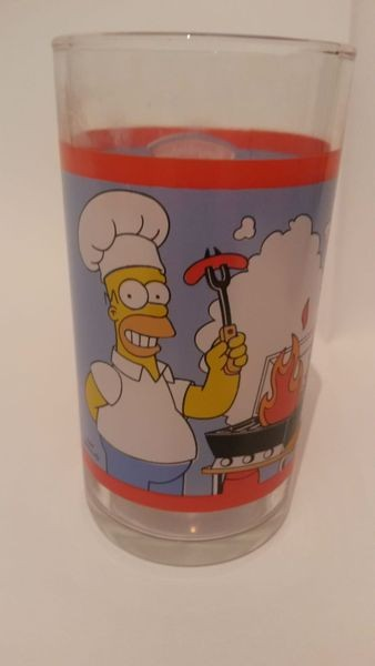 Simpsons Homer grillt Sammelglas Trinkglas- Hengstenberg Senf