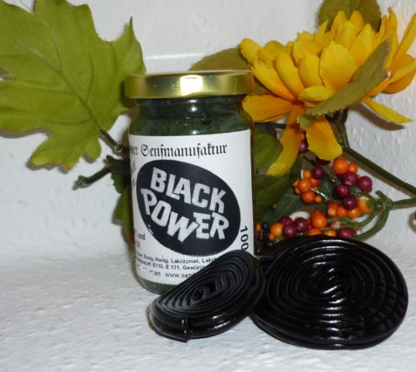 Black Power Senf 100ml mit Lakritz