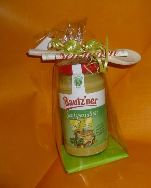 Bautzner Senf - Der Würzige - Geschenkverpackung+Löffel