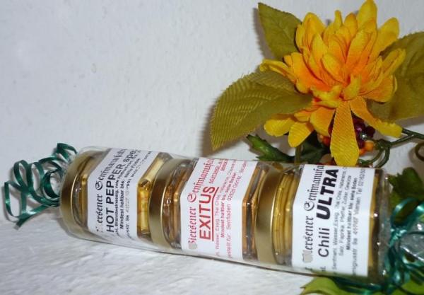 Scharfer Dreier 3 x 45 ml Chili Senf Geschenkidee