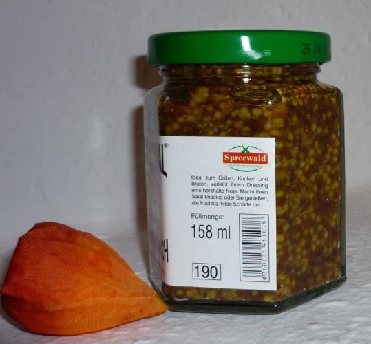 Grober Heinrich GanzkornSenf Spreewald 170ml