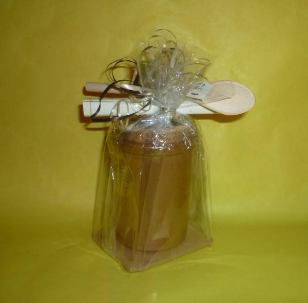 UR - Rezept Senf 100ml Moutarde de Montjoie - Monschau mit Holzlöffel