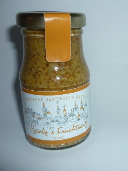 Bautzener HammerMühlen Orangen Senf süß - halbgrob 100 ml Apfelsine