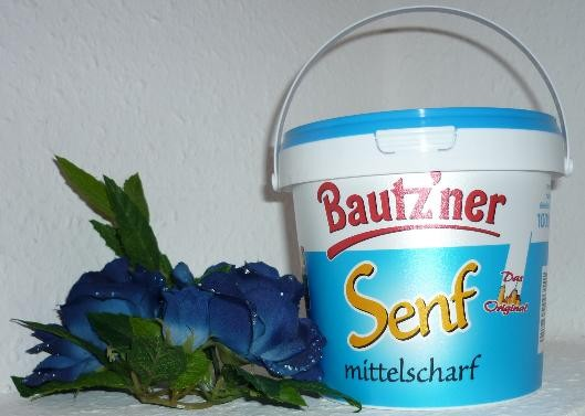 Bautzner mittelscharfer Senf 1000ml / 1 kg Eimer vegan