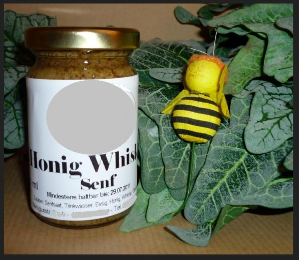Honig Whisky Senf grob süß pikant naturrein 100ml