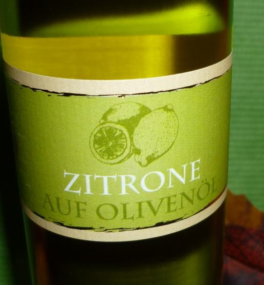 Öl - Zitrone auf Olivenöl 100 ml
