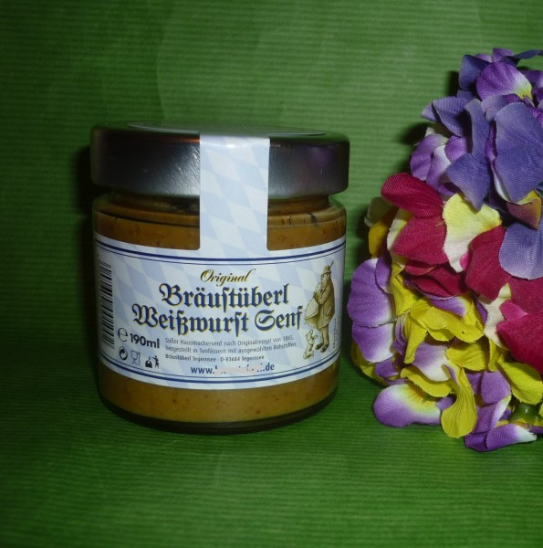 Weißwurst Senf süß 180ml bayrisch Bräustüberl Tegerns