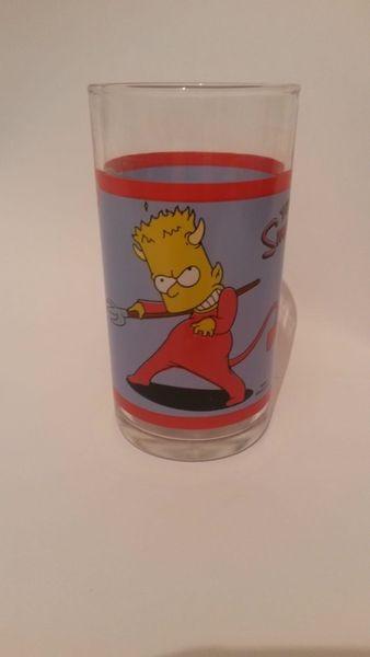 Simpsons Bart Teufel Sammelglas Trinkglas- Hengstenberg Senf