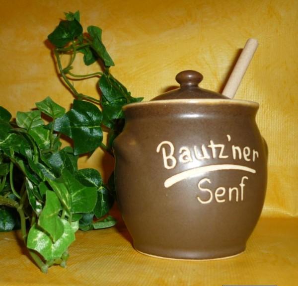 Senftöpfchen - Bautzner Senf - mit Naturholzlöffel