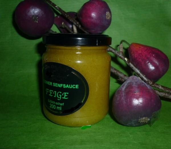 Tessiner Feigen Senfsauce - grün - fein scharf 200ml Original