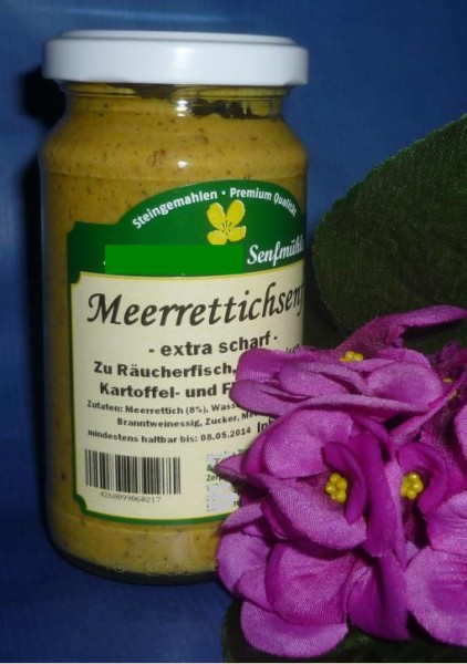 Meerrettich Senf 190ml vegan