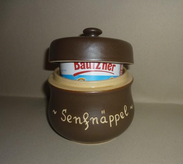 Senftopf Keramik - Senfnäppel - incl.. Bautzner Becher