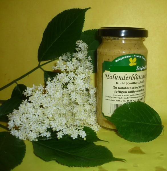 Holunder Blüten Senf , mittelscharf 190 ml