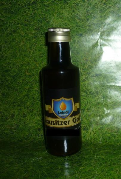 Öl - Leinöl naturtrüb Lausitzer GOLD kaltgepresst 105 ml - ungefiltert