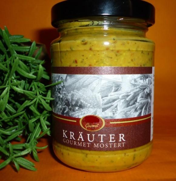 Kräuter Gourmet Mostert Senf 145ml vegan