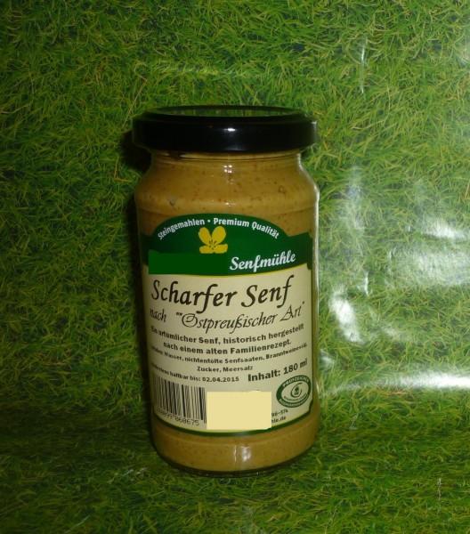 scharfer Senf 190ml ostpreußische Art vegan