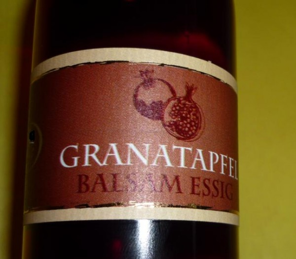 Essig - Granatapfel Crema Balsamica 3% Säure vegan - mild 250ml
