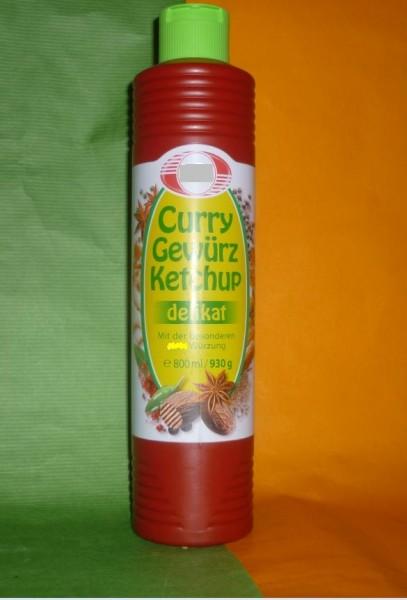 Curry Gewürz Tomaten Ketchup 800ml - delikat -