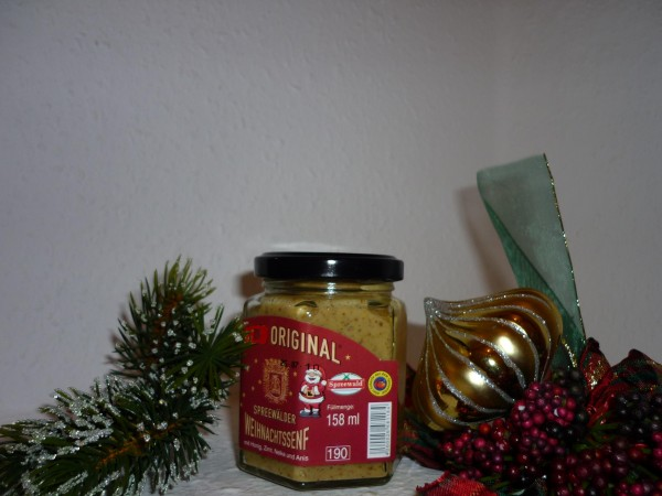 Sonderpreis weihnachtlicher Spreewald Senf 170ml Sonderpreis
