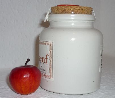 Bio Senf Apfeltraum 250ml PorzellanTopf